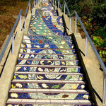 舊金山包車遊 - The 16th Ave Tiled Steps
